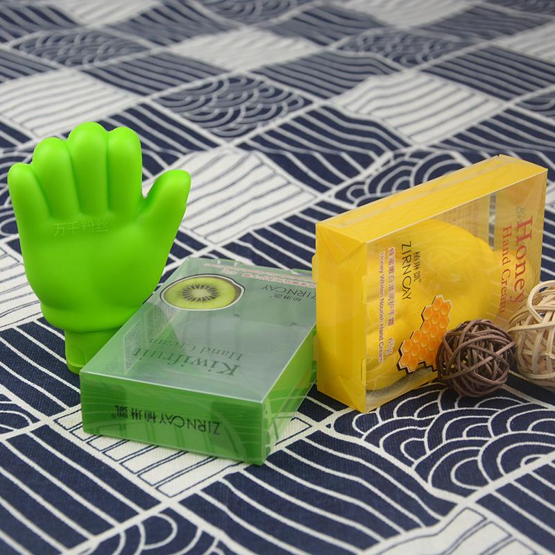 Custom printed plastic folding box packaging for hand cream